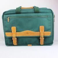 Vtg Apple Macintosh Green Briefcase Computer Laptop Notebook Macbook Bag Leather