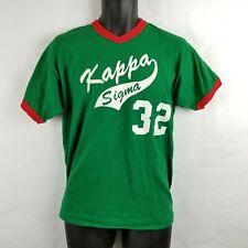 Vintage Kappa Sigma Fraternity Baseball Softball Jersey Green Red Medium