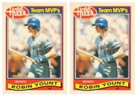 (2) 1989 Topps Hills Team MVP's Baseball #33 Robin Yount Card Lot Brewers