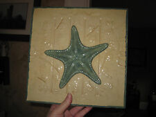 "10"" x 10"" metal starfish picture plaque wall decor"