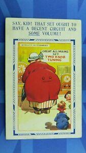 Bamforth Comic Postcard 1933 Wireless Radio THAT SET OUGHT TO HAVE DECENT VOLUME