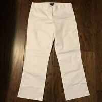 J. CREW Womens City Fit Dress Pants Trousers Size 6 White Career