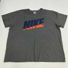Nike Tee Shirt Men's Size 3XL XXXL Short Sleeve Gray Crew Neck Athletic Cut