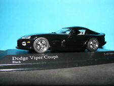 DODGE VIPER COUPE 1993 In Black  1:43 NLA Rare Minichamps