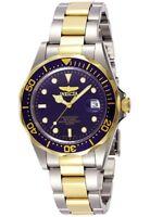 Invicta Reloj Hombre Watch Crystal Gold Silver Pulsera Oro Plata Bracelet Man