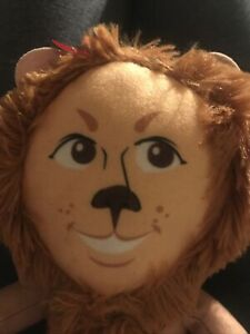 "NWT COWARDLY LION WIZARD OF OZ 10"" Plush BIG HEAD Warner Brothers Toy Factory"