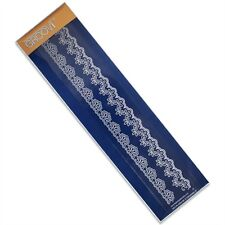 CLARITY STAMP GROOVI Embossing Border Plate LACE 1 GRO-PA-40044-09