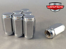 32 Lug Nuts Long Duplex Acorn 14x1.5 XL Tall Chrome 7/8 Hex