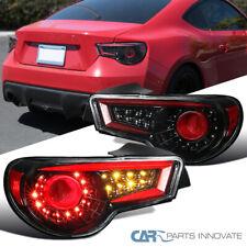For 12-16 Scion FRS 12-16 Subaru BRZ Pearl Black LED Neon Tube Brake Tail Lights