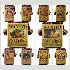 Vintage ONE PIECE Reward reward Poster Kraft Paper Antique Music Poster Bar
