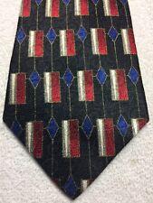 Pierre Cardin Hombre Corbata Negro con Rojo Blanco Azul Gris Blanco 4 X 59