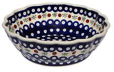 Polish Pottery Bowl 9 Inch diameter from Zaklady Boleslawiec 1279/41