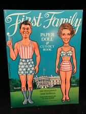 Ronald Reagan and His Family Paper Doll Cutouts 1981 Mint