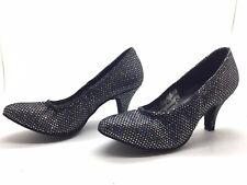 Chaussure de danse de salon pour femme:diamant couleur: noir a paillette taille