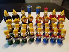 The Simpsons 3D Chess Game - All 32 Pieces - Homer, Marge, Bart, Maggie, Grandpa