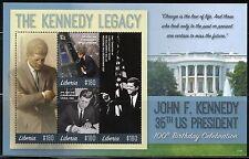 LIBERIA 2017  100th BIRTHDAY CELEBRATION JOHN F. KENNEDY  LEGACY SHEET  MINT NH