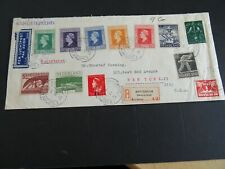 Nederland 12 zegels (9x bevrijding) op aanget. brief Amsterdam - New York 1945