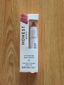 Honest Beauty Lip Crayon Demi-matte In Marsala