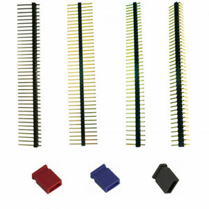 40 Pins PCB Connectors Straight Angled Header Single Row  Solder Strip Jumper
