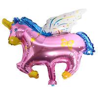 2x Girl Children Unicorn Pony Horse Birthday Party Foil Balloons Hanging decor