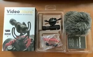 Rode VideoMicro Compact On-Camera Microphone w/ Rycote Lyre Shock Mount