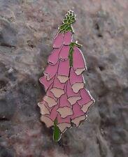 Beautiful Digitalis Purpurea Foxglove Wild Bell Shaped Flower Brooch Pin Badge