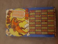 Bucks vintage punch board game