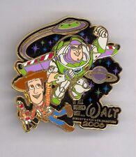 Started with Walt Disney Animation Toy Story Buzz Lightyear flying w/ Woody Pin