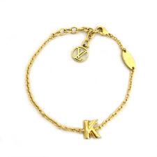 Louis Vuitton initial K Gold Tone Bracelet /90847