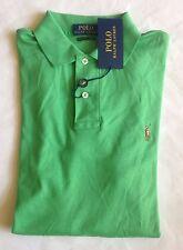 $90 NWT Mens Polo Ralph Lauren Green Pima Soft Touch Knit Short Sleeve Shirt M
