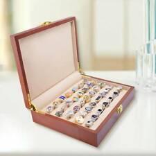 New Retro Large Wood Earring Ring Cufflink Jewelry Display Box Organizer Storage