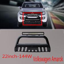 Volkswagen Amarok Nudge Bar 3'' Black Bumper Grille Guard 10-14+144w Cree Light
