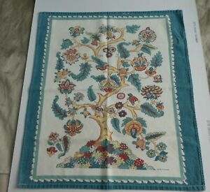 Vintage Colourful Tree of Life Cotton Tea Towel by Betterware 52cms x 59cms
