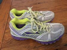 Brooks Women's Size 8.5 Running Shoes Trance 12 White Purple Volt ~3~