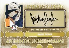 Bobby Taylor 2012-13 ITG Between the Pipes Decades 1970s AUTO Goaliegraph *I41
