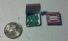Dollhouse Miniature Christmas Tree Cookies Box 1:12 scale E10A  Dollys Gallery