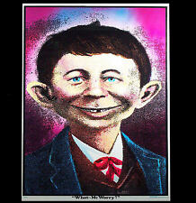 """70's MAD ALFRED E NEWMAN  """"WHAT ME WORRY"""" RARE VINTAGE BLACK LIGHT POSTER PINUP"""