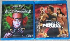 Disney Blu-ray Disc Lot - Alice in Wonderland (Used) Prince of Persia (Used)