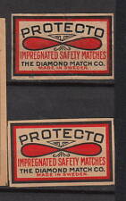 Ancienne  étiquette    allumettes Suède  AZ3250 Protecto