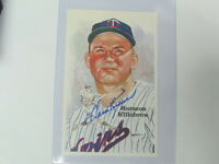 Harmon Killebrew Autographed Postcard JSA Auction Certified