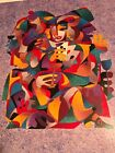 """Anatole Krasnyansky Seriolithograph """"Poker Players"""" Signed And Certificates"""