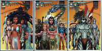 Michael Turner 's ASPEN #1 #2 #3 Triptychon Cover Set US COMICS NM NEU Fathom