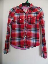HOLLISTER Multi  Plaid Snap on Button Western  Women's Shirt  - Sz S
