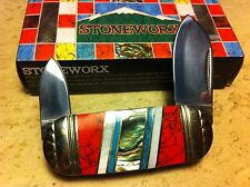 "Rough Rider Stoneworx Small Sunfish 3"" Pocket Knife  RR912"