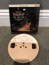 Puccini Turandot Nilsson Molinari-Pradelli 7 1/2 ips reel-to-reel tape Tested