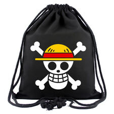 Anime One Piece Backpack Luffy Skull Bunch Mouth Pack School Bag Satchel Holdall