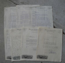 Lot of 7 Vintage 1918-29 Frick Company Machinery Letters Letterheads