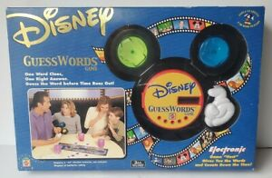 Disney Mattel GuessWords Electronic Game Vintage 2001 New