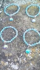MERMAID FISH  SPARKLE  FOUR BRACELETS WITH CHARMS ONLY £3.99