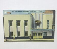 Loyal Order of Moose, Williamsport PA Art-Deco Architecture Linen Postcard